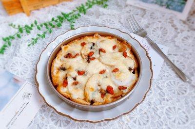 鱼丸口蘑吐司披萨