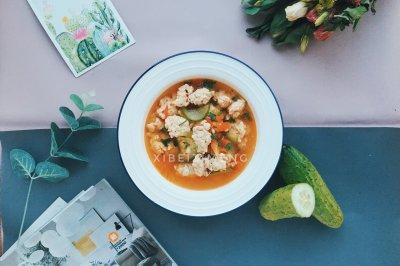 番茄鸡肉丸子汤
