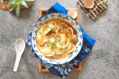 鲜美文蛤蒸鸡蛋羹
