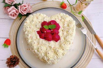 火龙果绿紫薯奶油蛋糕
