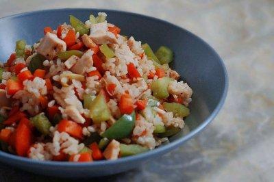 低脂糙米杂蔬炒饭