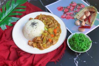 泰式咖喱鸡腿饭