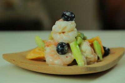 芦笋虾沙拉