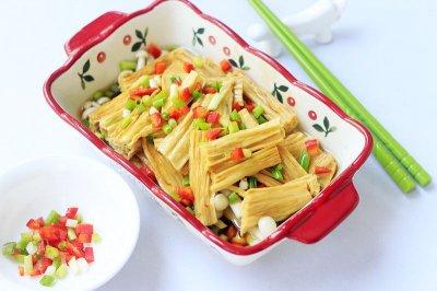 海鲜菇蒸腐竹
