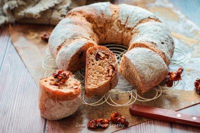 咖啡坚果全麦面包(红糖无脂)