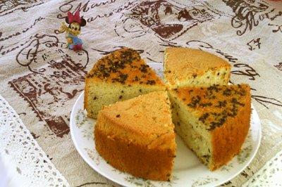 芝麻蜂糖戚风蛋糕