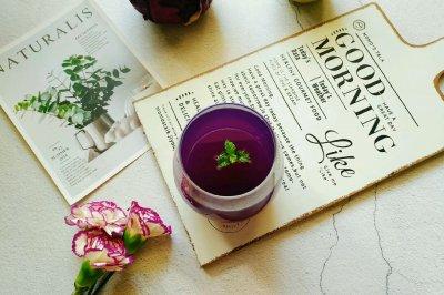紫甘蓝雪梨汁