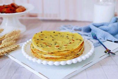 玉米面粉鸡蛋饼