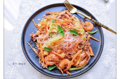 美食锅泰式海鲜粉丝沙拉