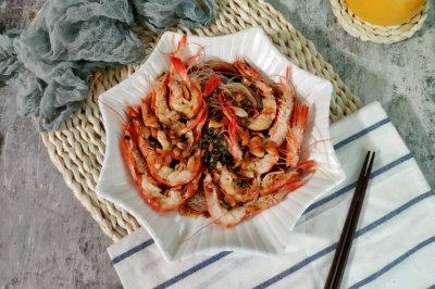 青花椒蒜蓉粉丝虾