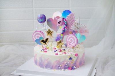 8寸芒果口味小马宝莉生日蛋糕