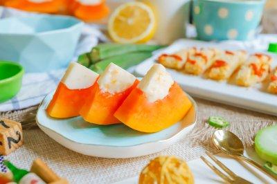 木瓜牛奶冻宝宝辅食