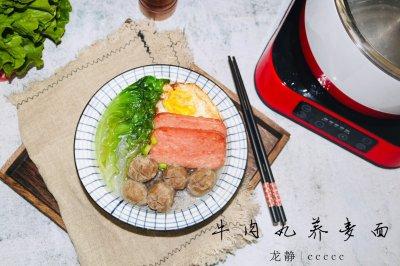 进阶版潮汕牛肉丸荞麦面