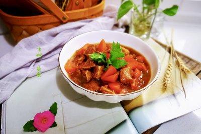 原汁原味蚝油牛腩胡萝卜