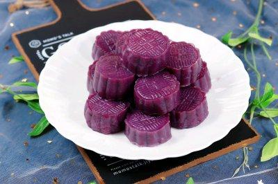 紫薯山药伪月饼(糯米糕)
