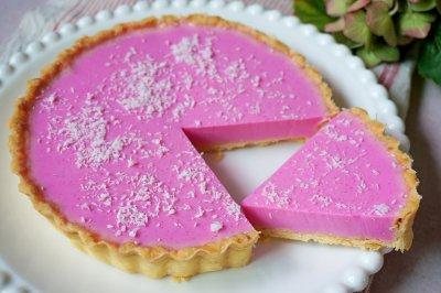 清爽好吃的火龙果酸奶挞