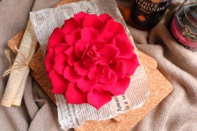 玫瑰巧克力慕斯蛋糕