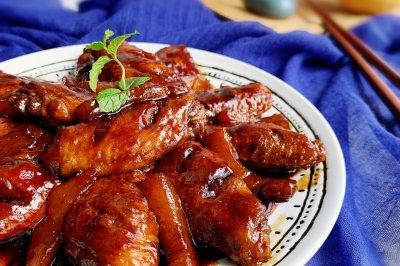 可乐黄桃焖鸡翅