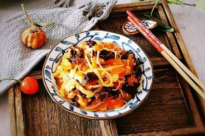 番茄木耳烩金针菇