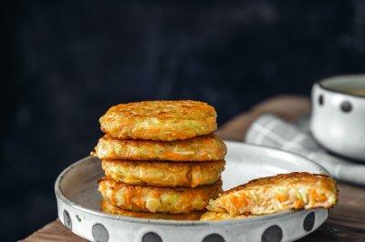 西葫芦鲜虾饼元气满满营养早餐饼
