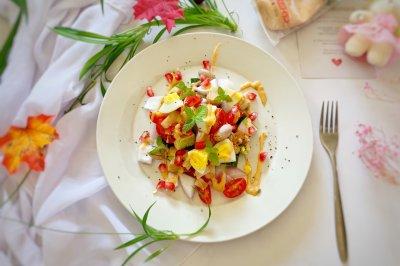 减肥必备蔬菜鸡胸肉沙拉