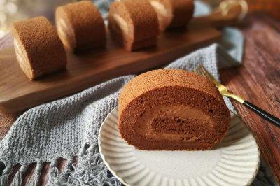 甘纳许巧克力毛巾蛋糕卷