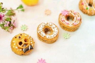 苹果豆沙甜甜圈