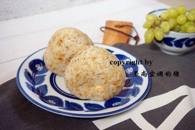 快手营养早餐藜麦鸡蛋肉松饭团