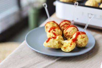秋游健康小零食:蔬菜奶酪丸子