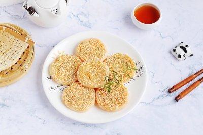 红薯芝麻煎饼