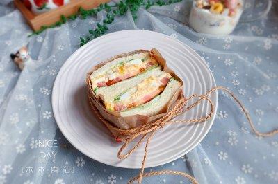 金枪鱼三明治宝宝最爱早餐