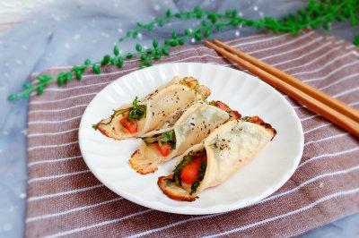 饺子皮芝士锅贴