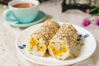 金沙燕麦香肠饭团