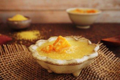秋季美容养生红薯小米粥