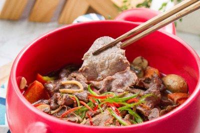 沙茶牛肉煲