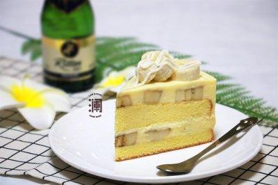 香蕉白巧芝士慕斯蛋糕