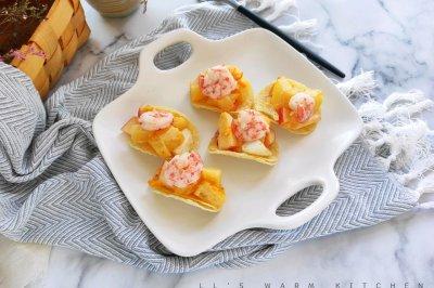 薯片沙拉虾