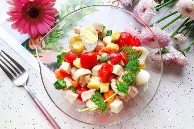鸡胸肉果蔬沙拉
