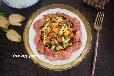 香肠蔬果沙拉