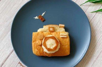 创意儿童早餐相机面包