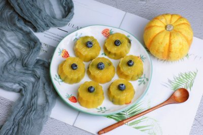 豆沙水晶南瓜饼