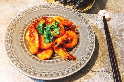番茄油焖大虾