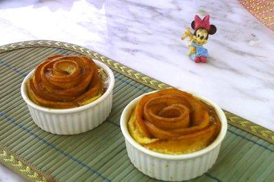 芒果玫瑰花土司蛋挞