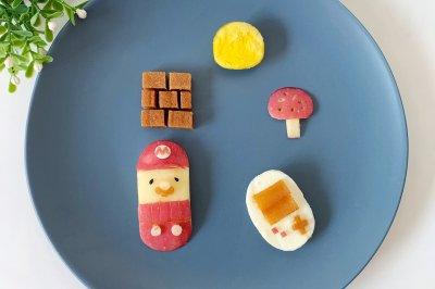 创意儿童餐拼盘马里奥