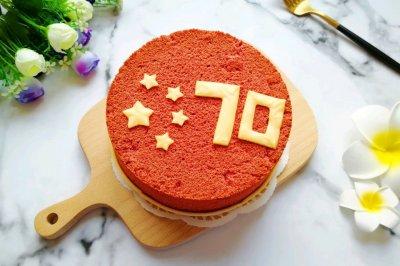 中国红戚风蛋糕