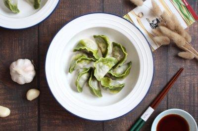 韭菜猪肉馅儿翡翠白玉水饺