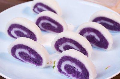 紫薯山药卷
