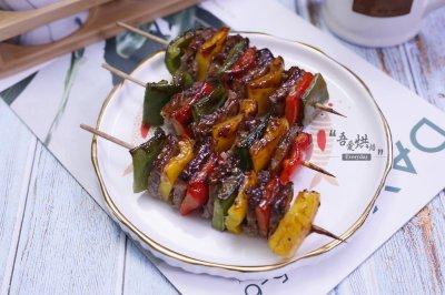 多彩黑椒牛肉串