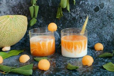 双色大理石纹蜜瓜酸奶