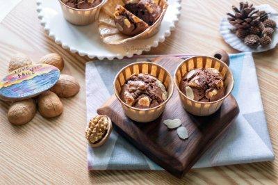 核桃榛子巧克力麦芬蛋糕